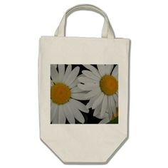 White Daisy Tote Bag Several sizes and colors to choose from. zazzle.com/capecodgiftshop