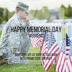 Shop at Sullivan has a special promo code this weekend for Memorial Day. Make sure you use it on your purchase to save off. Promo code: MAYDAY expires May