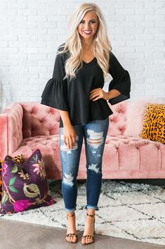 Queen Bee Shift Top in Black Mom Outfits, Cute Summer Outfits, Pretty Outfits, Beautiful Outfits, Stylish Outfits, Fall Outfits, Cute Outfits, Pretty Clothes, Modest Fashion