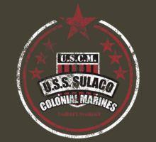 Aliens Movie - USS Sulaco Colonial Marines Vintage T-Shirt