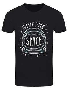How much space do you need! OMG! This 'punny' tee in ebony black, features the white outline of an astronaut's space helmet as it floats before a peppering of stars. Reflected in the glass is the caption, 'I Need More Space,' in a quirky font.