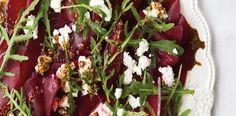Recepty: Carpaccio z červené řepy Bon Appetit, Salad Recipes, Salads, Beef, Yummy Food, Favorite Recipes, Foods, Meat, Food Food