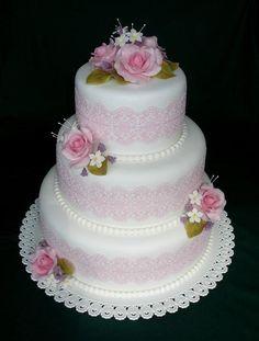 Svadobná | Torty od mamy Creative Cake Decorating, Creative Cakes, 3 Tier Cake, Tiered Cakes, Catholic Wedding, Amazing Wedding Cakes, Cake Icing, Gorgeous Cakes, Sugar Art