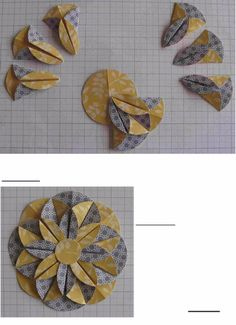 Learn about Origami Craft Flower Crafts, Diy Flowers, Fabric Flowers, Folded Paper Flowers, Scrapbook Paper Flowers, Paper Rosettes, Diy Paper, Paper Crafting, Paper Folding Crafts
