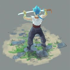 Ryu from Breath of Fire 4 preparing to use a skill in combat! Video Game Art, Video Games, Breath Of Fire, Fire Art, Nostalgia, Breathe, Geek Stuff, Animation, Illustration