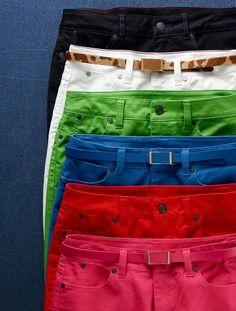 Talbots - Signature Fit Colored Denim Ankle Jean | Pants | Misses