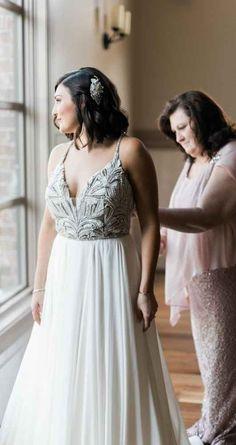 Vintage beaded bodice wedding gown - The Wedding Story of Erin and Ryan Dwyer   WeddingDay Magazine