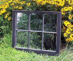 Black Window Mirror 28x31 by windowmirror on Etsy,
