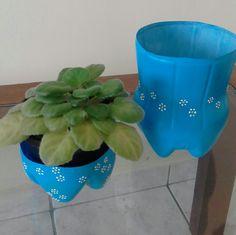 Cachepot e porta treco  - reciclagem Pet para Cidinha RJ