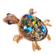 Gold Tortoise Brooch //Price: $9.95 & FREE Shipping //     #womensfashion