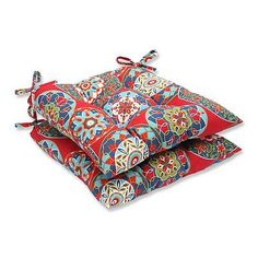 Pillow Perfect 571737 Cera Garden Outdoor Wrought Iron Seat Cushions (Set of 2)