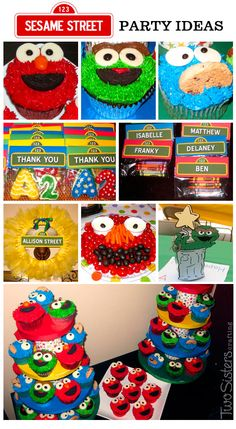 Sesame Street Party Ideas from a Sesame Street Birthday Party #TwoSistersCrafting