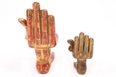 modern sculptures of hands   friedeberg hand foot gilt sculptures pair of pedro friedeberg hand ...
