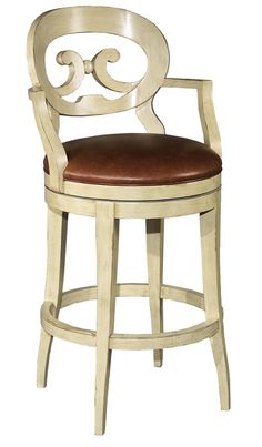 Hillsdale Furniture Wilshire Swivel Wood Bar Stool with Arms - Antique White | furniture | Pinterest | Wood bar stools Chairs and French  sc 1 st  Pinterest & Hillsdale Furniture Wilshire Swivel Wood Bar Stool with Arms ... islam-shia.org