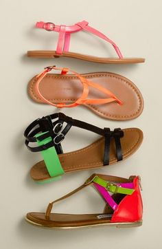 Bright & bold Nordstrom kids sandals.