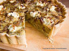 Kleiner Kuriositätenladen: Kartoffel-Zwiebel-Tarte mit Ziegenkäse