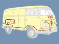 1968 devon caravette 68 vw bus devon vw main wiring harness