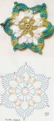 Crochet fancy star chart