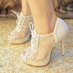 Elegant White Peep Toe Lace-Up Bowtie Ankle Boots | Finally I found the site that sells these shoes | http://www.shoespie.com/product/10911434.html?utm_source=facebook.com&utm_medium=TSDE024&utm_term=0433&utm_campaign=20140731-1-3