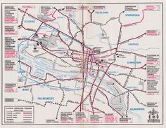 Historical Map: Map of Glasgow Corporation Transport Services, c. 1934
