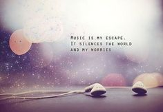 ♪ ♫ ♬ and there is a reason I live with my headphones in, it is my therapy