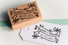 Wedding stamp  Custom Made by MissHoneyBird on Etsy, €39.95