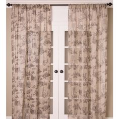 Toile Print Sheer Linen Curtain Panel - Overstock™ Shopping - Great Deals on Curtains