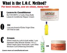 I've only found one natural hair care method that helps me keep my coarse, high porosity hair moisturized: The L.O.C. Method = Leave-In. Oil. Cream.)