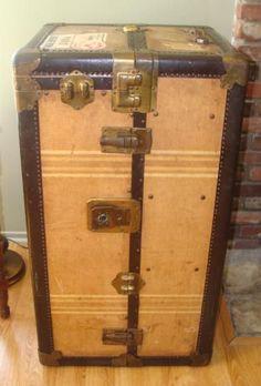 1920's Hartmann Steamer Wardrobe Trunk