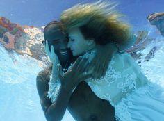 Underwater Wedding Kiss