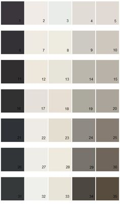 26. Black Of Night SW6993 27. Pure White SW 7005 28. Creamy SW 7012 29. Gauntlet Grey SW7019 30. Griffon SW7026 Find your paint colors fast and easy with House Paint Colors! Thousands of Sherwin Williams paint colors to choose from, how-to guides, and more!
