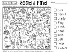 & Find - Hidden Picture Puzzles CVC Words Read & Find - Hidden Picture Puzzles CVC WordsPicture This Picture This may refer to: First Day Of School Activities, 1st Day Of School, Beginning Of The School Year, Middle School, School Games, High School, Kindergarten Reading, Reading Activities, Kindergarten Graduation