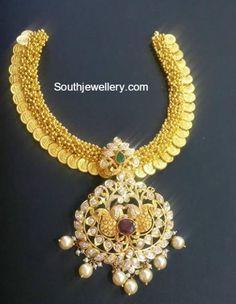 kasu necklace pacchi pendant