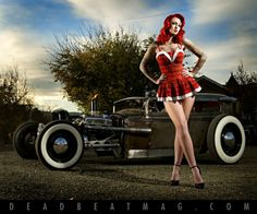 Rat Rod Girls | Rat Rod from Dead Beat Magazine with nice PinUp girl