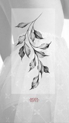 Rose Tattoos, Flower Tattoos, Leaf Tattoos, Body Art Tattoos, Small Tattoos, Sleeve Tattoos, Floral Tattoo Design, Flower Tattoo Designs, Tattoo Sketches
