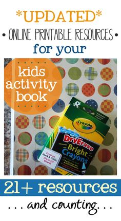 have you made your DIY kids dry-erase book yet?? here is an updated list of free printable resources that you can print off add to your kid's books! coloring pages, workbook sheets, games, etc.... | www.livecrafteat.com