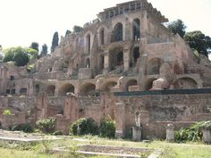 ancient ruins on Capri - The palace of Tiberius at Rome was located on the Palatine Hill, the ruins of which can still be seen today.