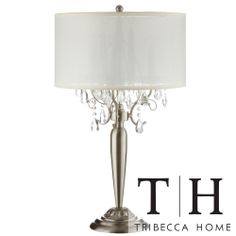 TRIBECCA HOME Silver Mist 3-light Crystal Chrome Table L& by Tribecca Home  sc 1 st  Pinterest & Silver Mist 3-light Crystal Chrome Table Lamp by iNSPIRE Q Bold by ... azcodes.com