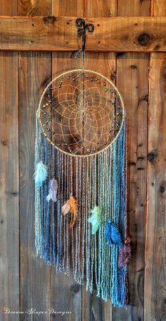 Dreaming in Color Dreamcatcher by DreamShaperDesigns on Etsy