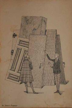 Goreyography : West Wing : The Backroom : Original Edward Gorey Art from select dealers