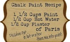 diy chalk paint. Use a flat acrylic paint.  Don't forget to sand the furniture before painting! And no undercoat/priming needed!