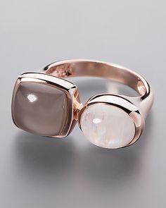 207a28bcc34 Rosévergoldeter Mondstein-Ring - hier online