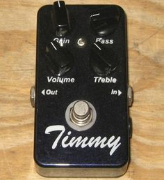 "Paul Cochrane ""Timmy"" overdrive pedal   EXCELLENT!!"