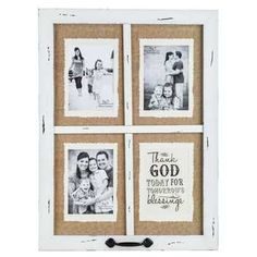 Get Vintage White Blessings Window Collage Frame online or find other Collage Frames products from HobbyLobby.com