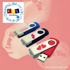 Get creative with your giveaways this Valentines! How will you customize this swivel USB? Your imagination is the limit. #calprintworks #promotionalitems #souvenirs #valentines
