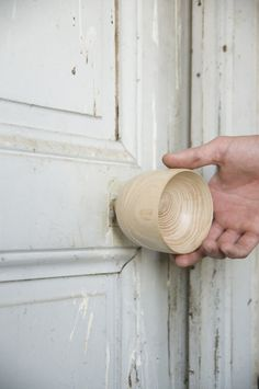 """""""The XXY Door Handle series by Valentín Garal is a series of decorative knobs made of solid wood created using hand-turning techniques. Each is handcrafted by request, made to the client's specifications."""""""
