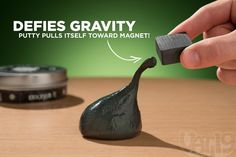 Magnetic smart putty! This stuff is insanely cool.