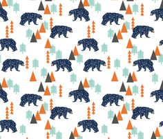 Crib bedding navy orange mint grey nursery by HudsonBabyCompany