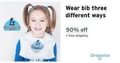 """Help me drop the price of the Bibsaroo Disposable Baby Bibs to $13.00 (50% off). The price continues dropping as more moms click """"Drop the price"""". Moms drop prices of kids & baby products by sharing them with each other."""