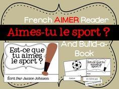 Aimes-tu le Sport ?~French Aimer Sports Reader & Build-A-Book